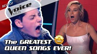 TOP 10 | AMAZING QUEEN COVERS in The Voice Kids!
