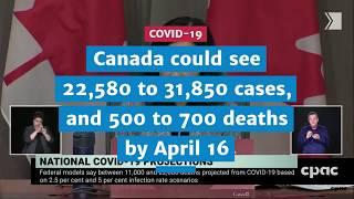 Canada could see 22,580 to 31,850 cases, and 500 to 700 deaths by next week | COVID-19