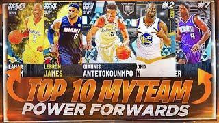 THE TOP 10 POWER FORWARDS IN NBA 2K21 MYTEAM!! OCTOBER 2K21 TOP 10 POWER FORWARDS!!