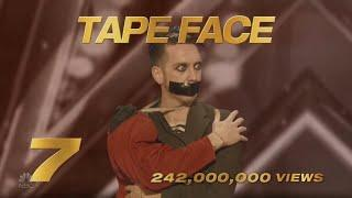 America's Got Talent 2020 Tape Face Number 7 AGT Top 15 Viral Memorial Moments S15E10