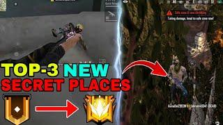 Top 3 New Hidden/Secret Place For Rank Pushing || Free Fire