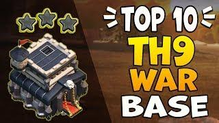 TOP 10 TH9 WAR BASE WITH *COPY LINK* | Best Town Hall 9 War Base | Clash of Clans