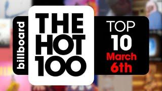 Early Release! Billboard Hot 100 Top 10 Singles  (March 6th, 2021) Countdown