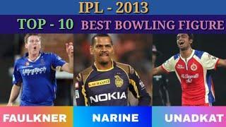 #IPL2013 #IPLRECORDS #Mrsachincricket IPL-2013 :- TOP-10 BOWLERS BEST BOWLING FIGURE IN IPL - 2013