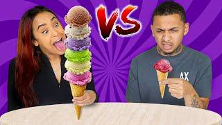 TALL VS SHORT FOOD CHALLENGE!