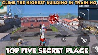 Top five secret places in free fire || Best rank pushing secret places