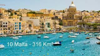 Top 10 Smallest country in the world ( Area)