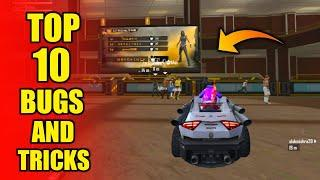 Top 10 New Tricks in Free Fire || New Bugs And Tricks in Training Mode - Garena Free Fire