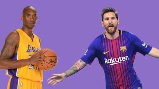 KOBE BRYANT BEST MOMENT WITH LIONEL MESSI   Talks Messi vs Ronaldo comparison