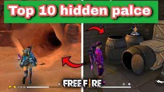 Top 10 hidden place for rank pushing | Top 10 hidden place in kalahari map | Top 10 hidden place