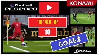 The TOP 10 most AMAZING GOALS| January 2020| eFootball PES 2020 (mobile)| Youtube's Best GOALS