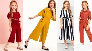 Best 8 to 10 year old girl dresses jumpsuit Outfit for kids girls