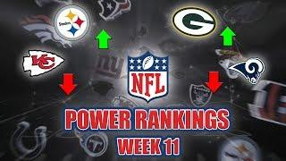 NFL Week 11 Power Rankings | Top 2 Teams Lose, Are The Chiefs In Trouble?