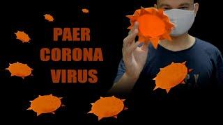 How to make paper boomerang corona virus | origami coronavirus | boomerang plane king