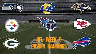 Top 10 NFL Power Rankings Week 5