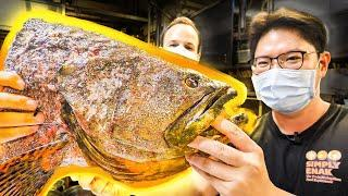 Most INSANE Street Food in Asia - The BIGGEST 10LB Fish Head STEAMED + Street Food of Ipoh, Malaysia