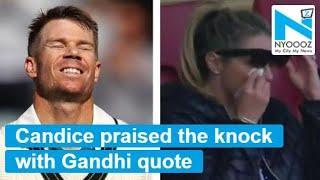 David Warner's wife praises triple century with Mahatma Gandhi quote