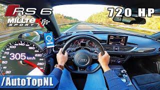 Audi RS6 Performance 720HP   CRAZY FAST! 305km/h AUTOBAHN POV by AutoTopNL
