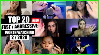 ASMR / FAST / AGGRESSIVE (Hand Sounds, Mouth Sounds, Tapping) / TOP 20 / 2/2020 / ASMR Charts