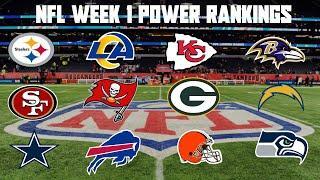 Top 10 NFL Power Rankings Week 1
