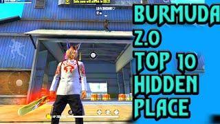 bermuda 2.0 hiding place bermuda remastered hidden places FREE FIRE TOP 10 hidden pleace burmuda rem