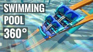 360 Video VR 8K Underwater Roller Coaster 360° Swimming Pool Experience