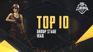 [TOP 10] PMCO Iraq Group Stage | Spring Split | PUBG MOBILE CLUB OPEN 2020