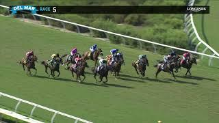 Lane way wins race 5 at Del Mar 08/22/20