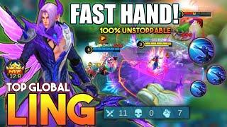 Ling Fast Hand Kill Combo! Top Global Ling Gameplay | Mobile Legends✓