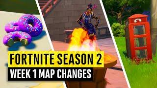 Fortnite | All Season 2 Map Updates and Hidden Secrets! WEEK 1 (chapter 2)