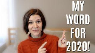 2020 WORD FOR THE YEAR | My Word, Verse, and New Goal!