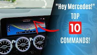 Hey Mercedes! Top 10 COMMANDS on MBUX!
