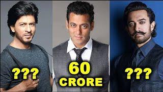 Top 10 highest paid actor's in india#money#
