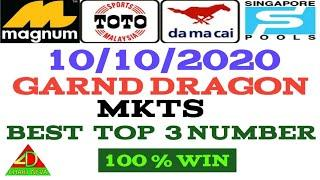 10/10/2020  MKTS  fully  NUMBER_ LUCKY NUMBER _ BEST TOP 3 NUMBER _ MALAYSIA _ SINGAPORE _ LOTTERY