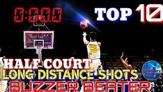 PBA Half Court Shots|Long Distance Shots|TOP 10 Buzzer Beater