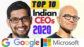 Top 10 Indian CEO of Global Companies 2020    Highest Paid CEO    Indian CEOs in World   