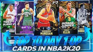 THE TOP 10 MOST OVERPOWERED CARDS AT DAY 1 OF NBA 2K20 MYTEAM!!