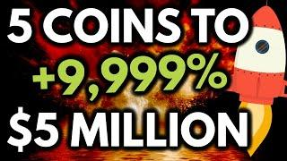 5 COINS TO $5 MILLION! Top coins to GET RICH in September/October