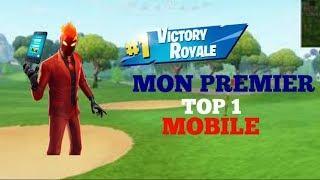 JE FAIS MON PREMIER TOP 1 SUR MOBILE !!!!! - FORTNITE BATTLE ROYALE