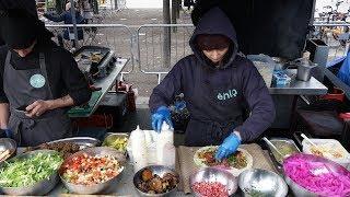 FALAFEL SANDWICH WRAPS - Delicious Eastern Mediterranean Street Food from Ehla Eat Stall, London..