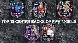TOP 10 CENTRE BACKS (CB) OF FIFA MOBILE 20 + STAY HOME TOURNAMENT COMING WITH TRAILER IN FIFA MOBILE