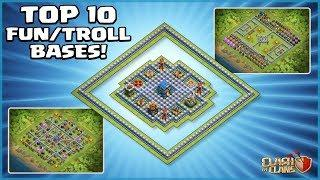 *TOP 10* FUNNY/TROLL CoC TH12 Base Designs - With COPY LINKS! - Clash of Clans