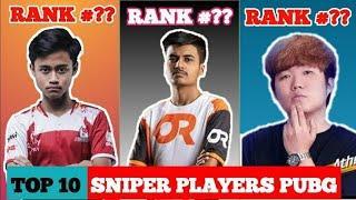 Best pubg Sniper in the world   Top 10 Sniper in PUBG MOBILE