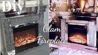DIY FIREPLACE ON A BUDGET! GLAM FIREPLACE - GIVEAWAY! GIVEAWAY! GIVEAWAY!