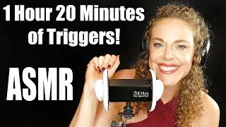 ASMR 1 Hour Top 10 Triggers & Whispers ♥ Old School ASMR & New Sounds! 3Dio Ear to Ear, Sleep Aid