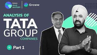 Tata group of companies Analysis - TCS, Tata ELXSI, Tata Motors, Tata Coffee, Trent, Titan, Voltas