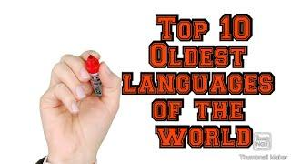 Top 10 Oldest Language in the World