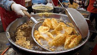 깨끗한 새기름, 바삭한 500원 즉석 튀김! / clean new oil, crispy fried food - korean street food