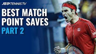 Best ATP Tennis Match Point Saves!