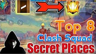 Clash Squad Rank Secret Place Free Fire || Top 8 Secret Place In Clash Squad